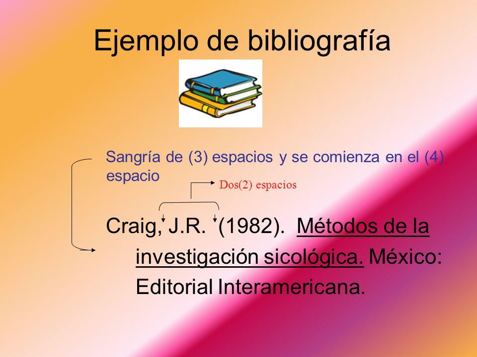 Ejemplo de bibliografía