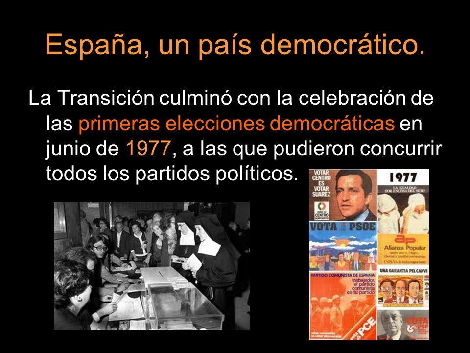 España, un país democrático.