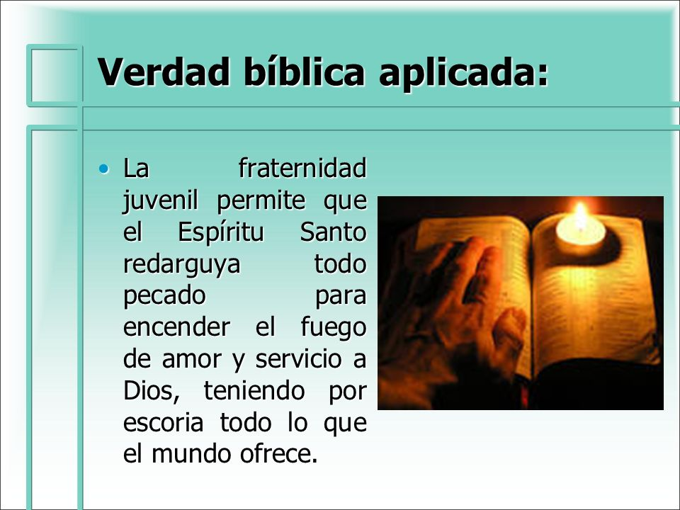 Verdad bíblica aplicada: