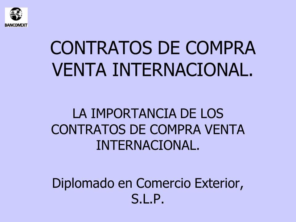 CONTRATOS DE COMPRA VENTA INTERNACIONAL.