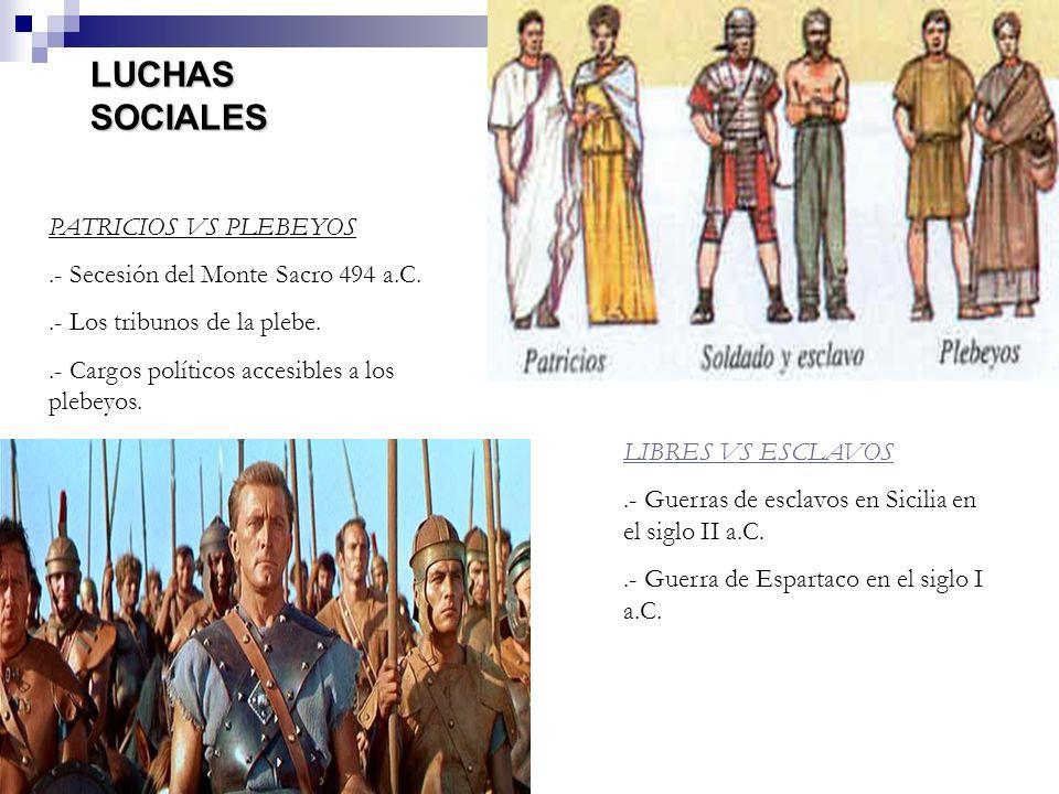 LUCHAS SOCIALES PATRICIOS VS PLEBEYOS