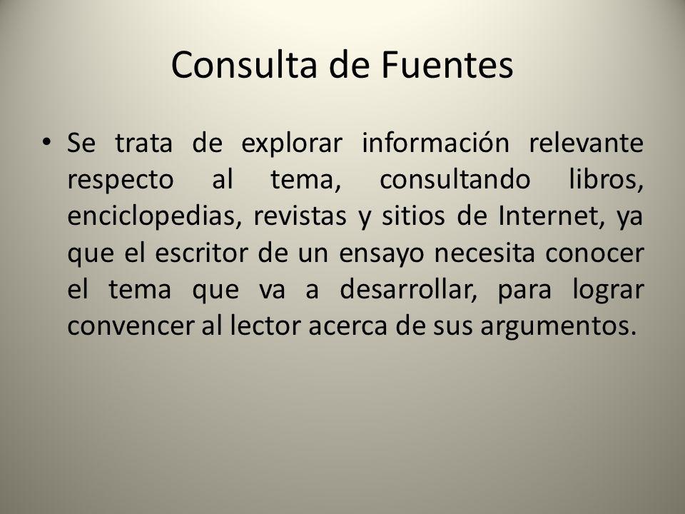 Consulta de Fuentes