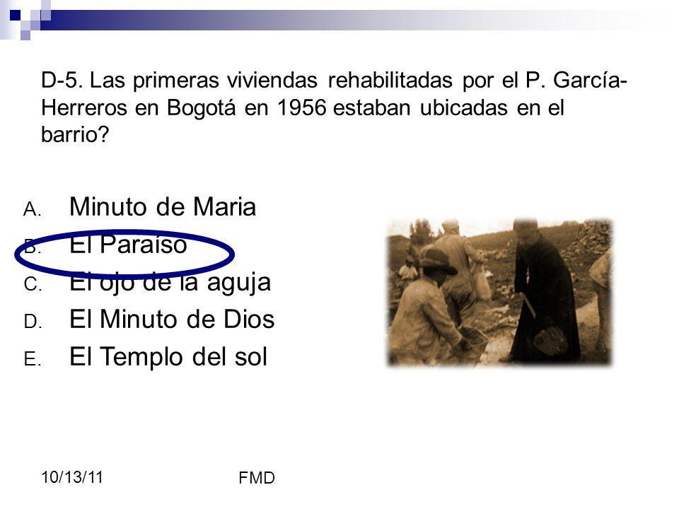 Minuto de Maria El Paraíso El ojo de la aguja El Minuto de Dios