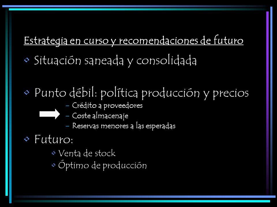 Estrategia en curso y recomendaciones de futuro