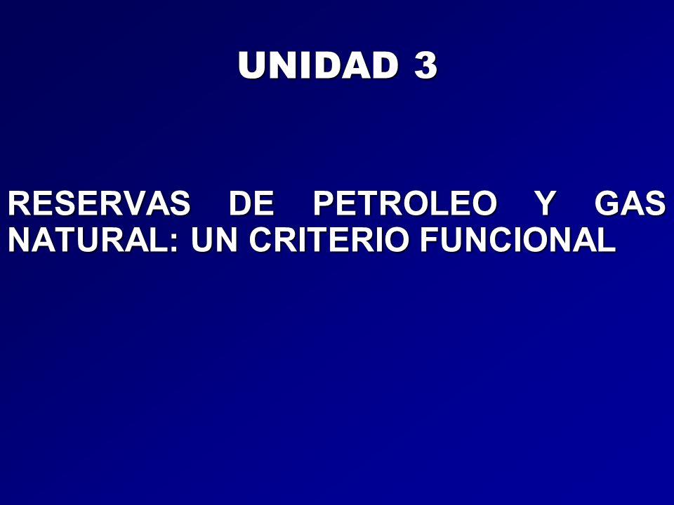 UNIDAD 3 RESERVAS DE PETROLEO Y GAS NATURAL: UN CRITERIO FUNCIONAL