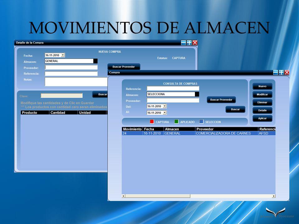 MOVIMIENTOS DE ALMACEN