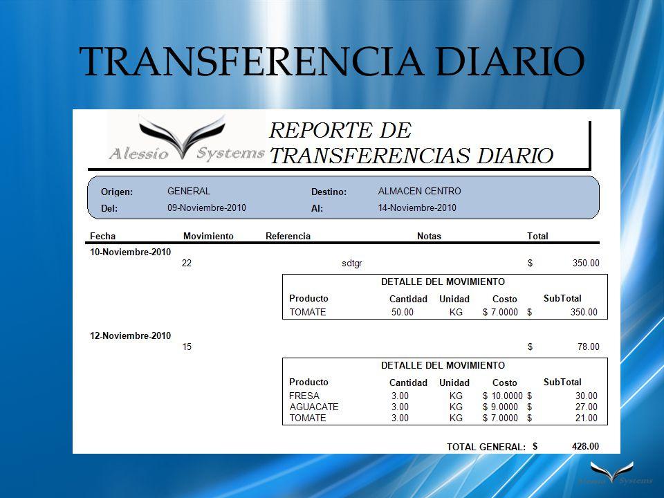 TRANSFERENCIA DIARIO