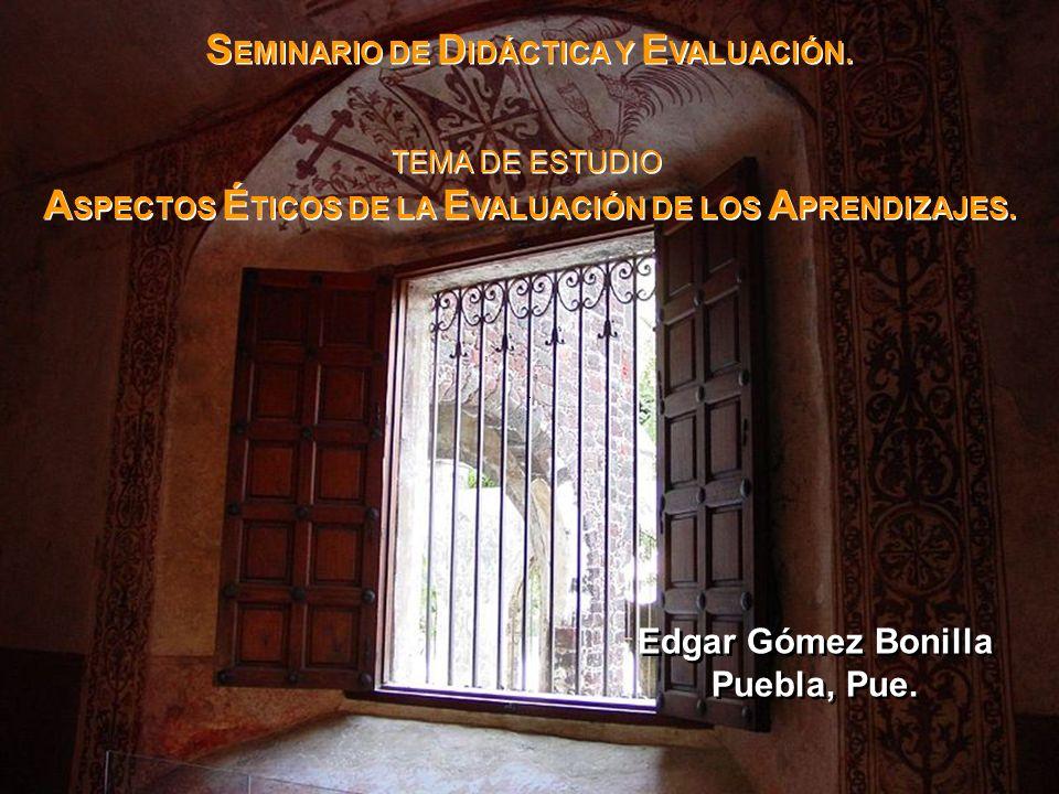 SEMINARIO DE DIDÁCTICA Y EVALUACIÓN.