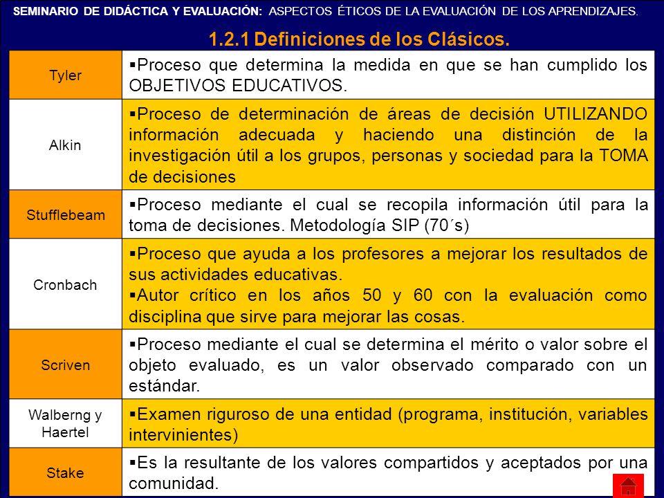 1.2.1 Definiciones de los Clásicos.