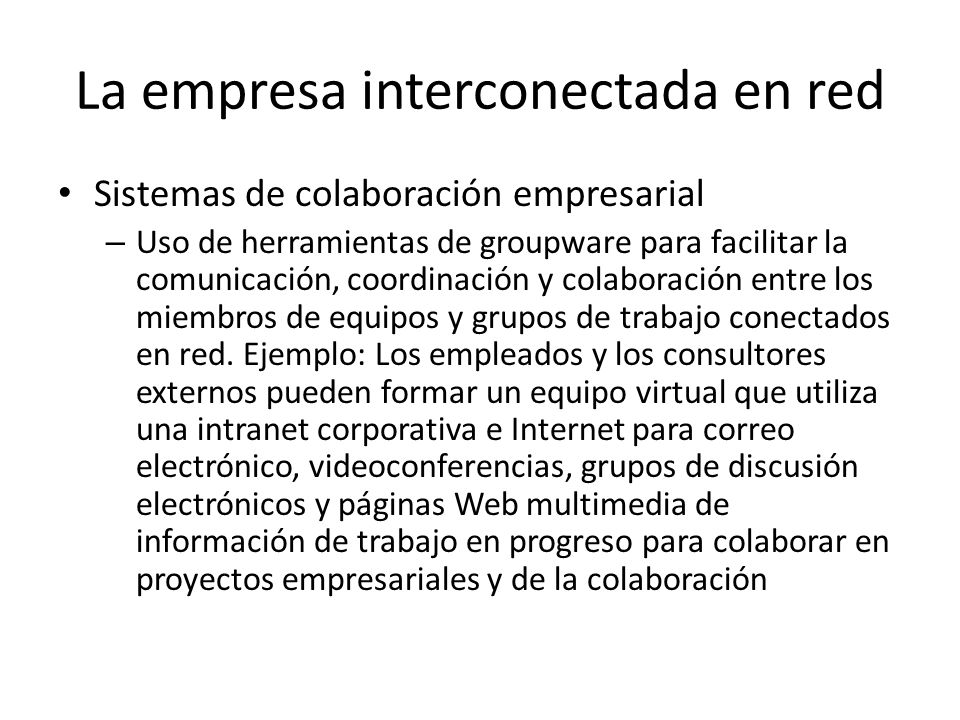 La empresa interconectada en red