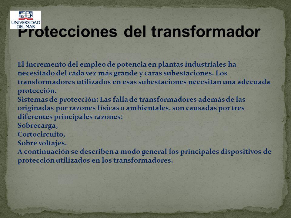 Protecciones del transformador