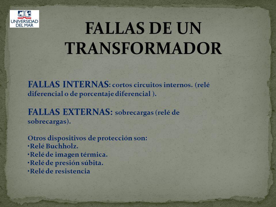 FALLAS DE UN TRANSFORMADOR