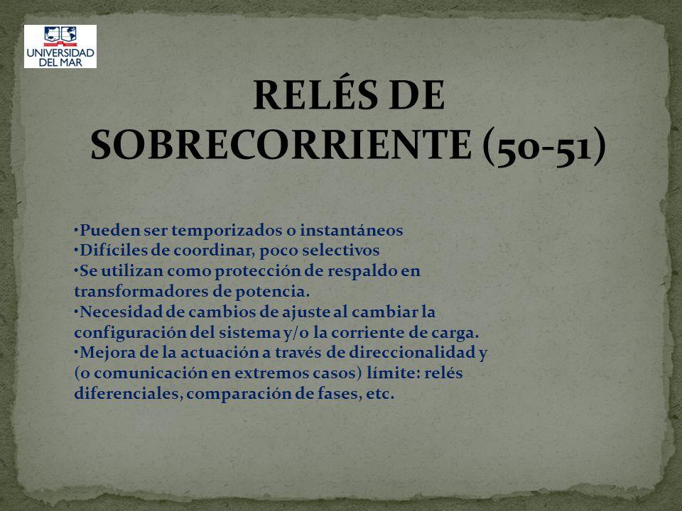 RELÉS DE SOBRECORRIENTE (50-51)