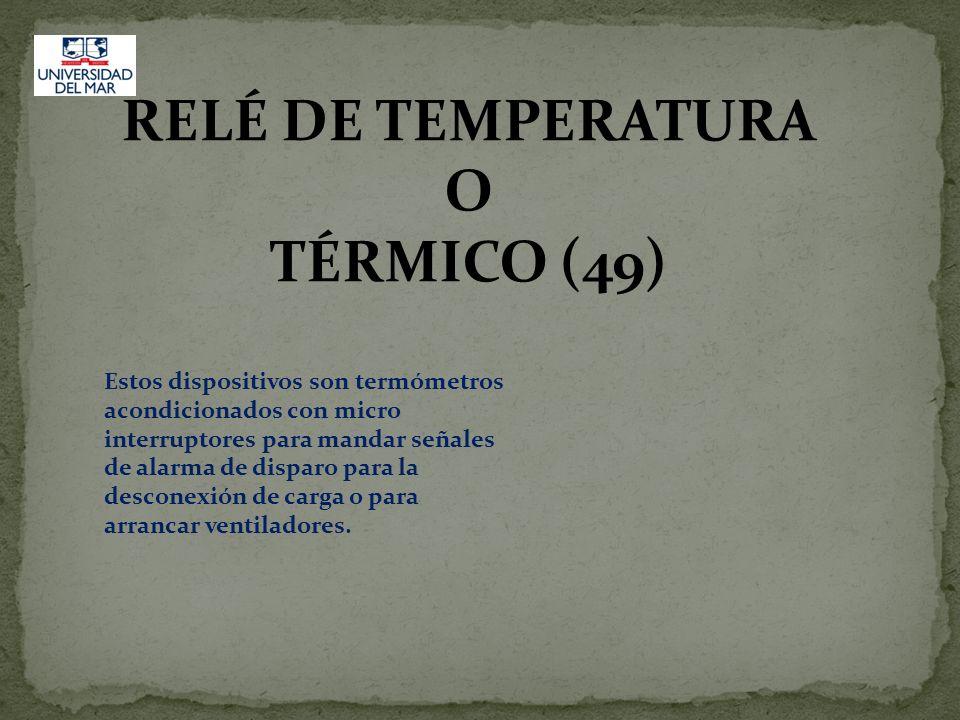 RELÉ DE TEMPERATURA O TÉRMICO (49)