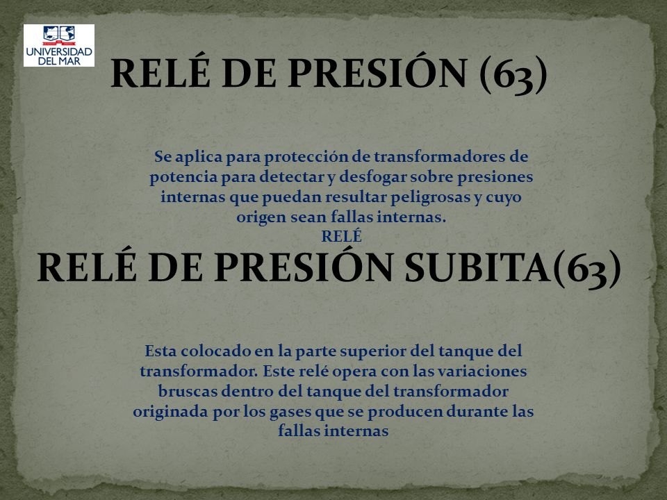 RELÉ DE PRESIÓN SUBITA(63)