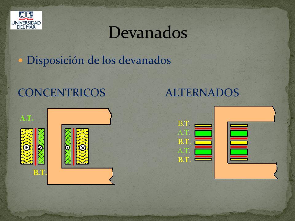 Devanados Disposición de los devanados CONCENTRICOS ALTERNADOS