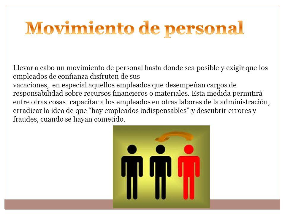 Movimiento de personal