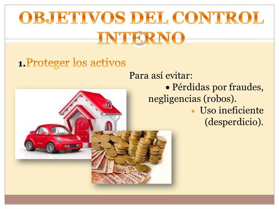 OBJETIVOS DEL CONTROL INTERNO