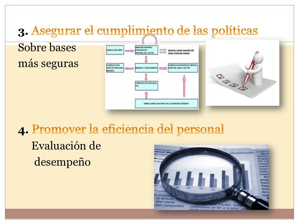 3. Asegurar el cumplimiento de las políticas Sobre bases más seguras 4