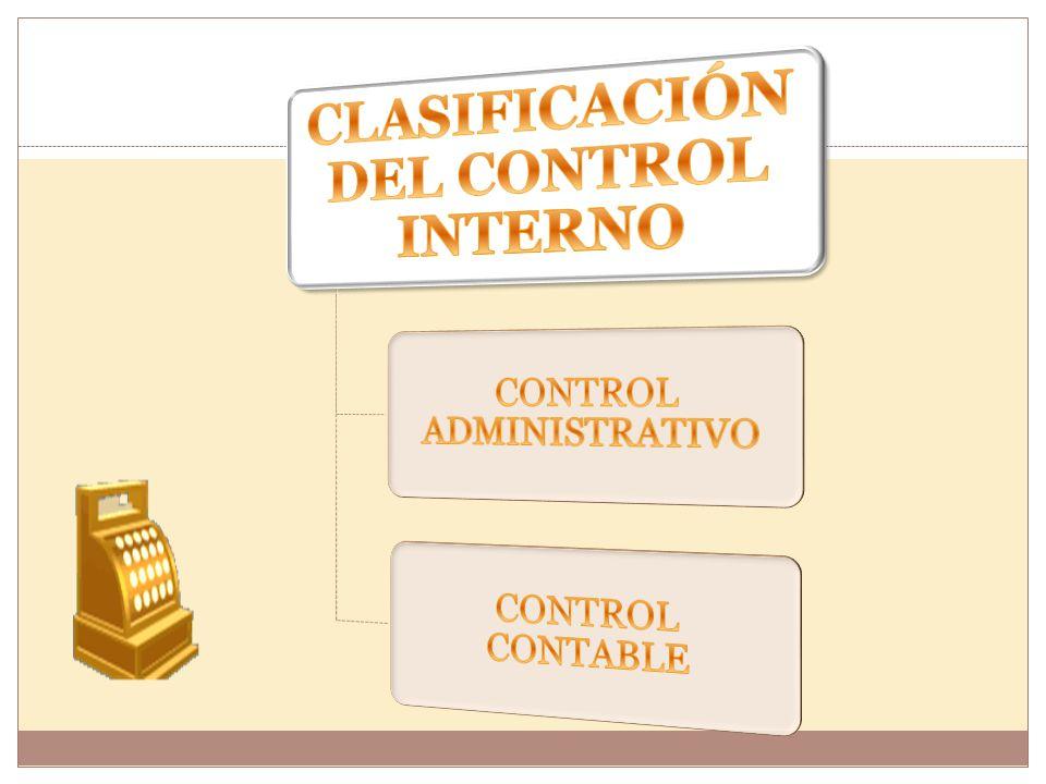 CLASIFICACIÓN DEL CONTROL INTERNO