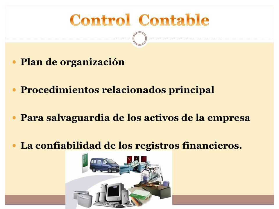 Control Contable Plan de organización