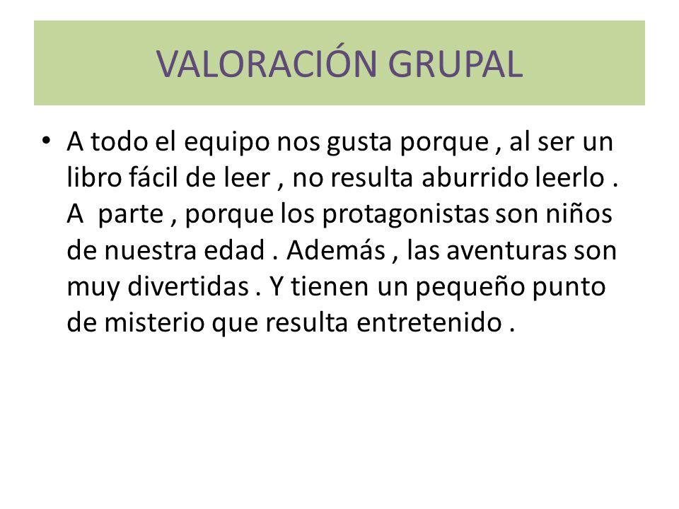 VALORACIÓN GRUPAL