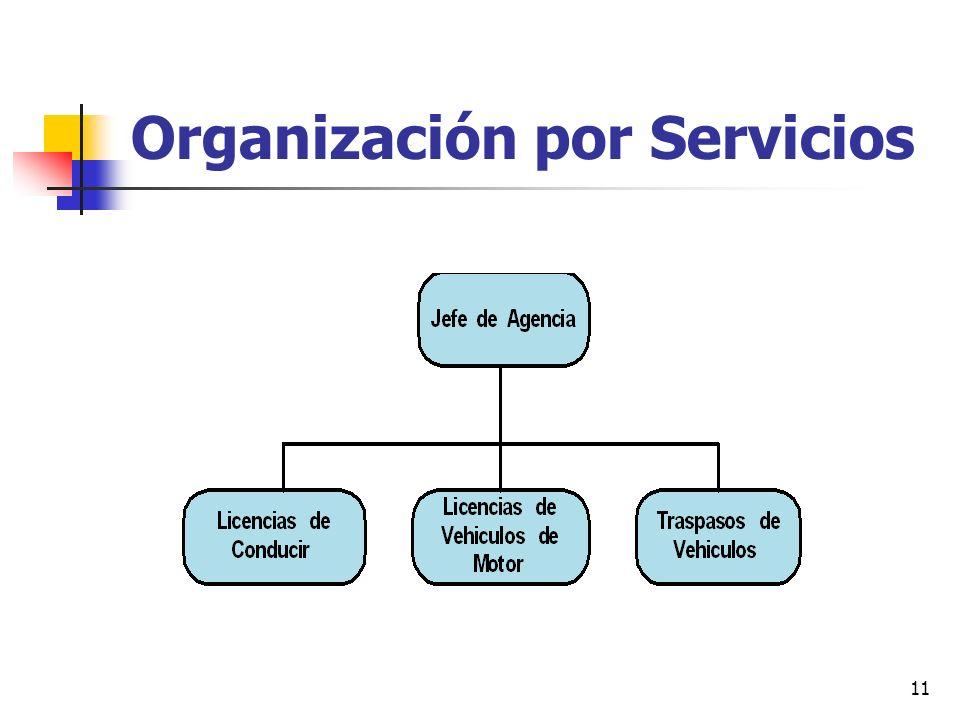 Organización por Servicios