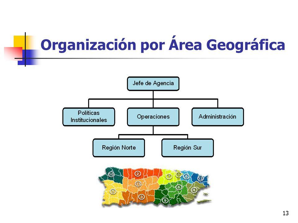 Organización por Área Geográfica