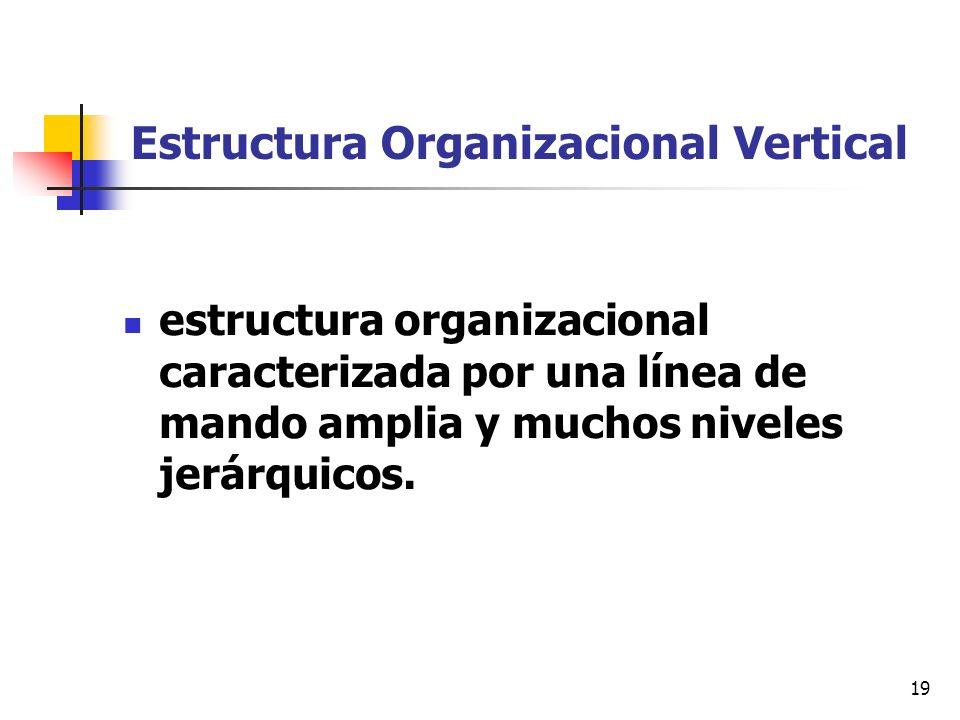 Estructura Organizacional Vertical