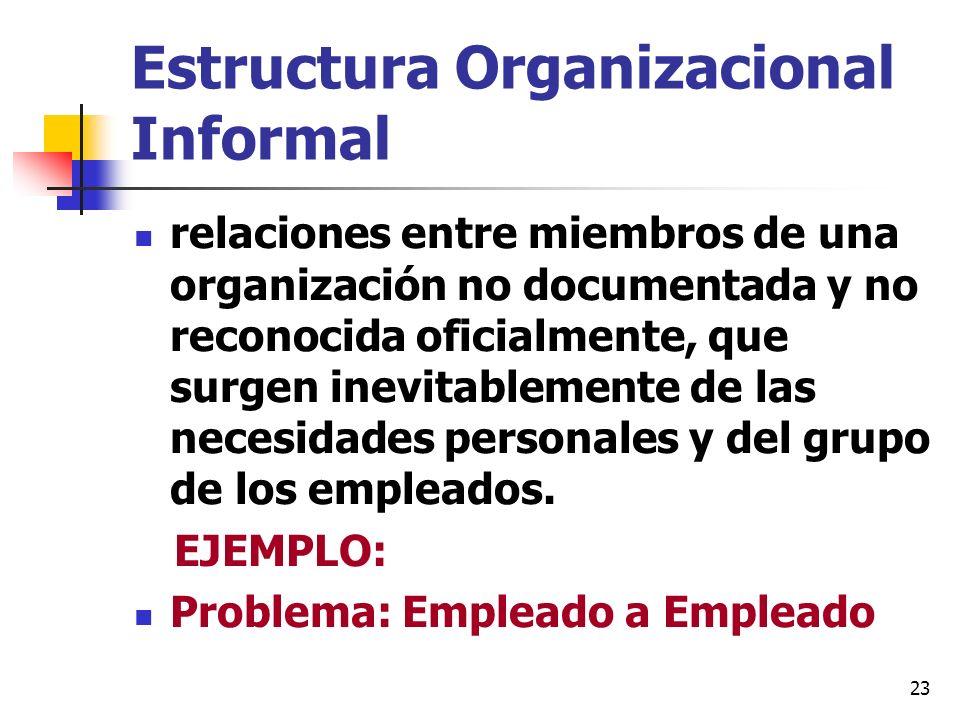 Estructura Organizacional Informal