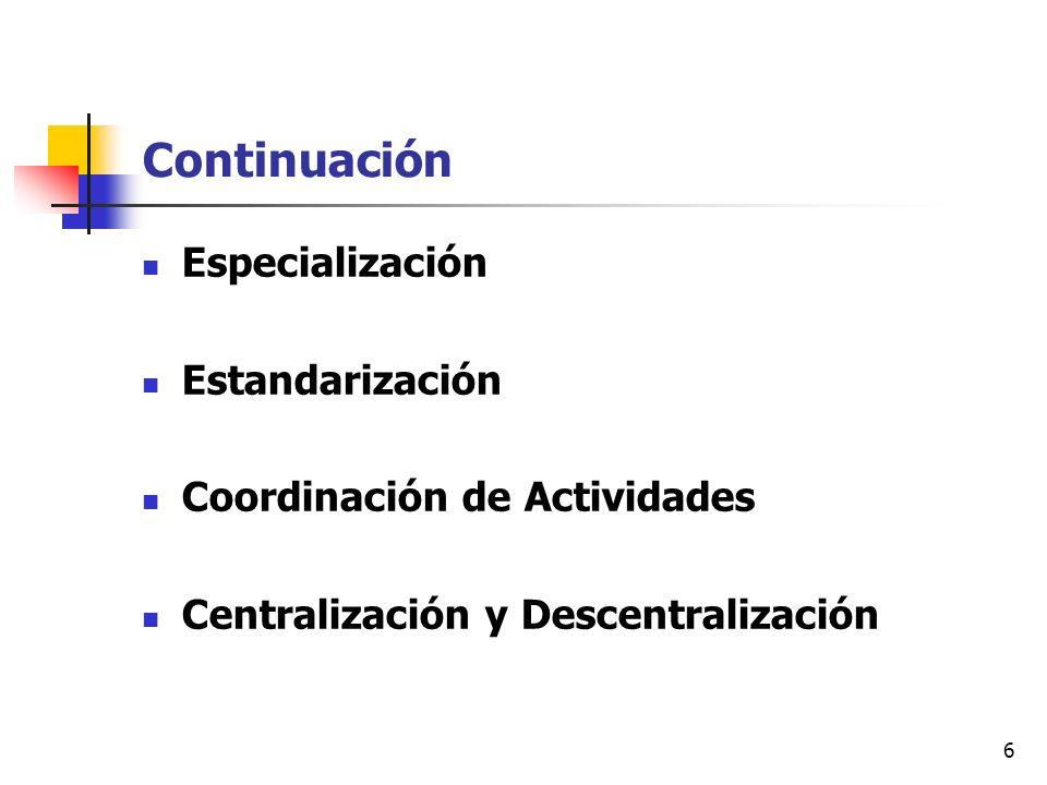 Continuación Especialización Estandarización