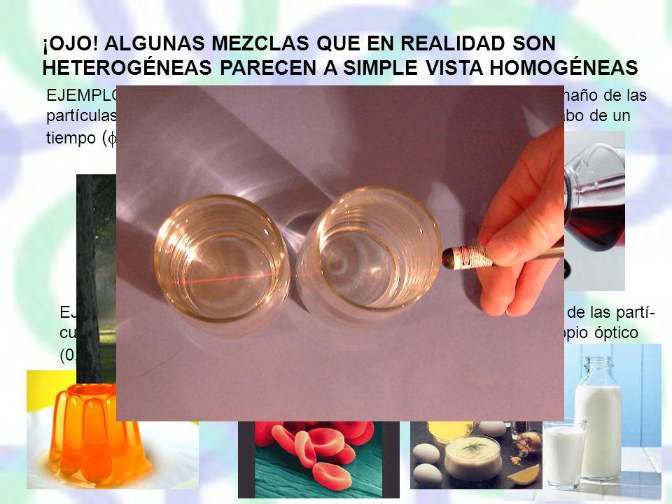 ¡OJO! ALGUNAS MEZCLAS QUE EN REALIDAD SON