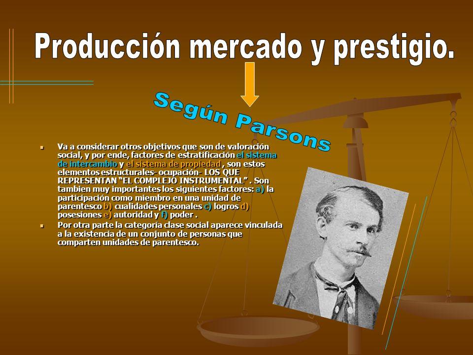 Producción mercado y prestigio.