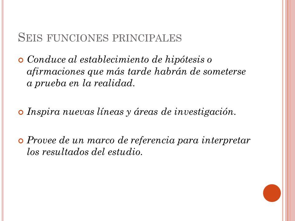 Seis funciones principales