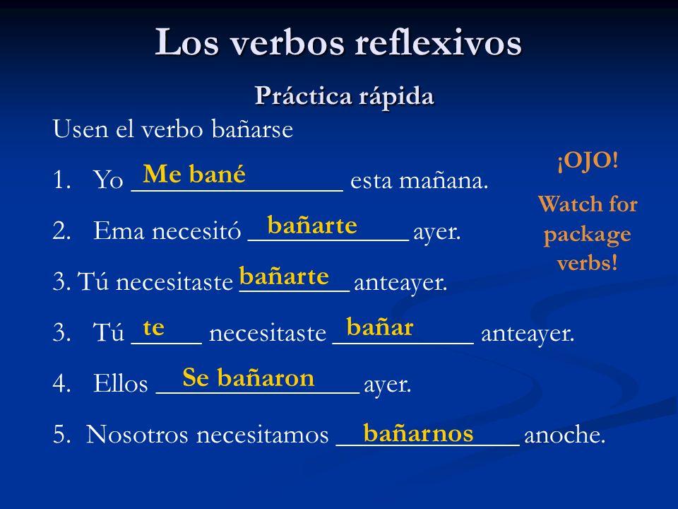 Los verbos reflexivos Práctica rápida