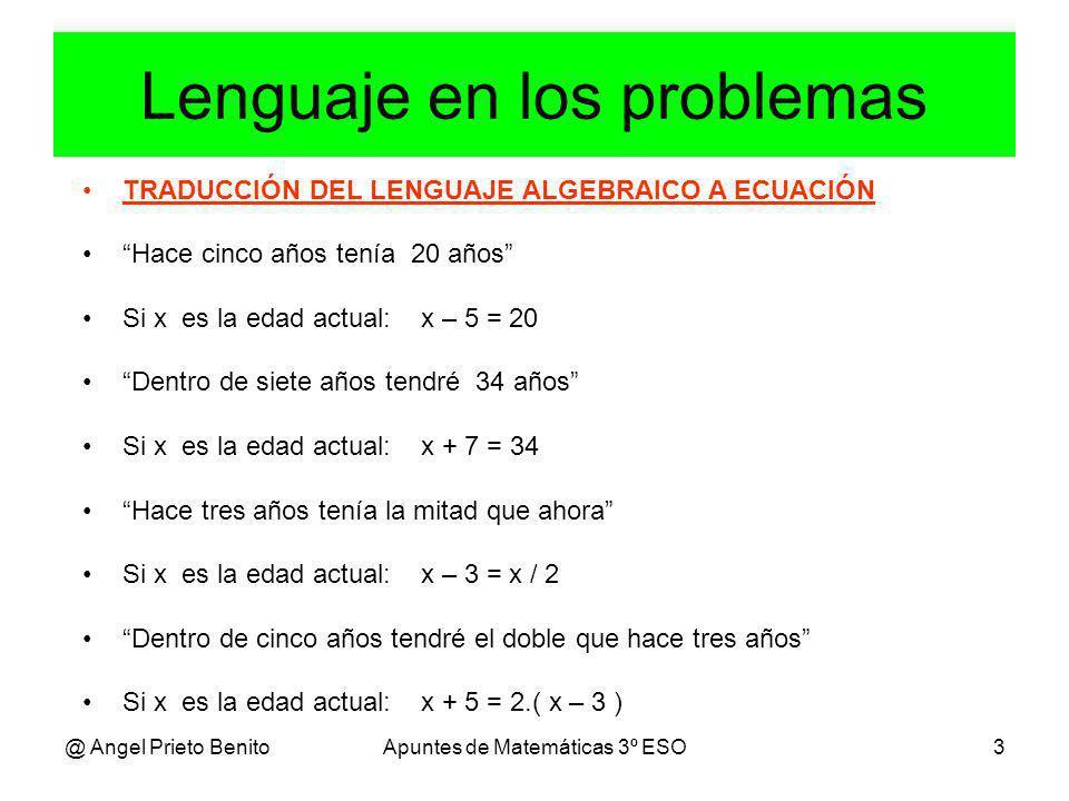 Lenguaje en los problemas