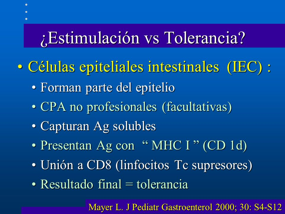 ¿Estimulación vs Tolerancia