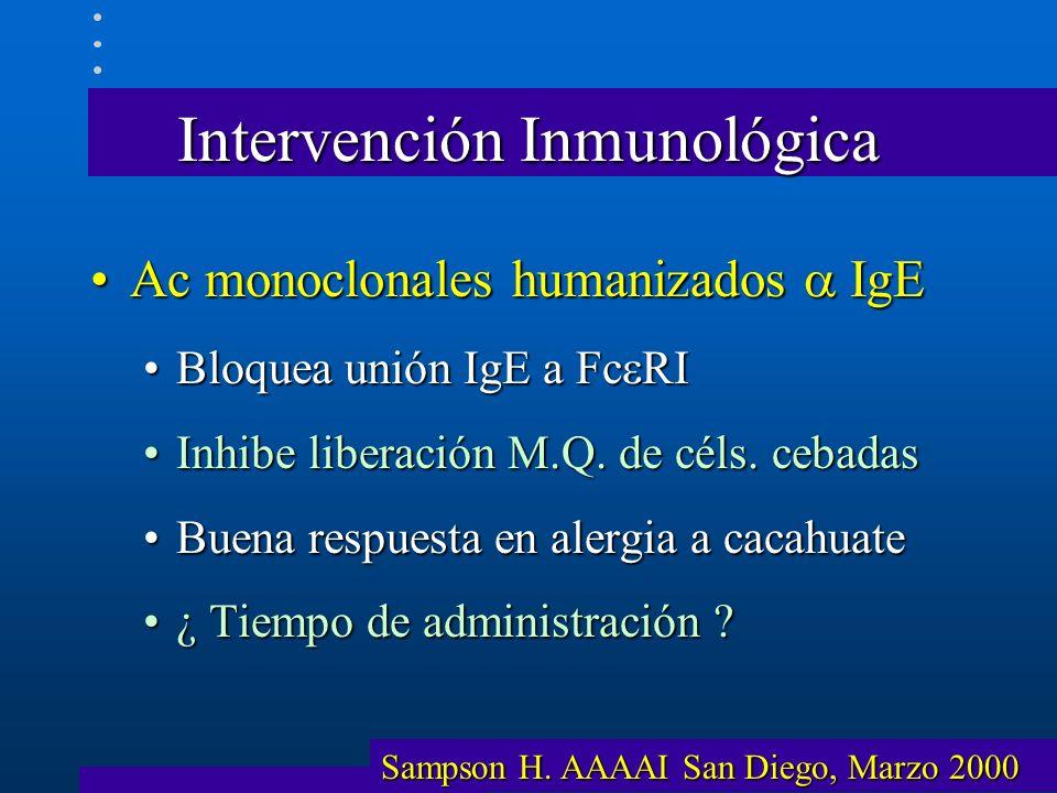 Intervención Inmunológica