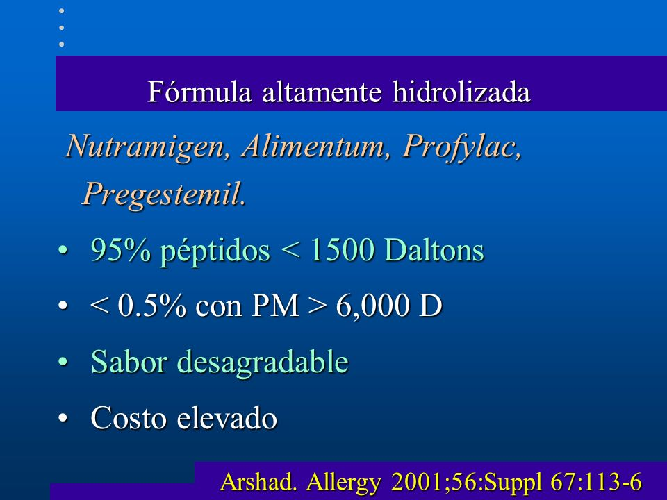 Fórmula altamente hidrolizada