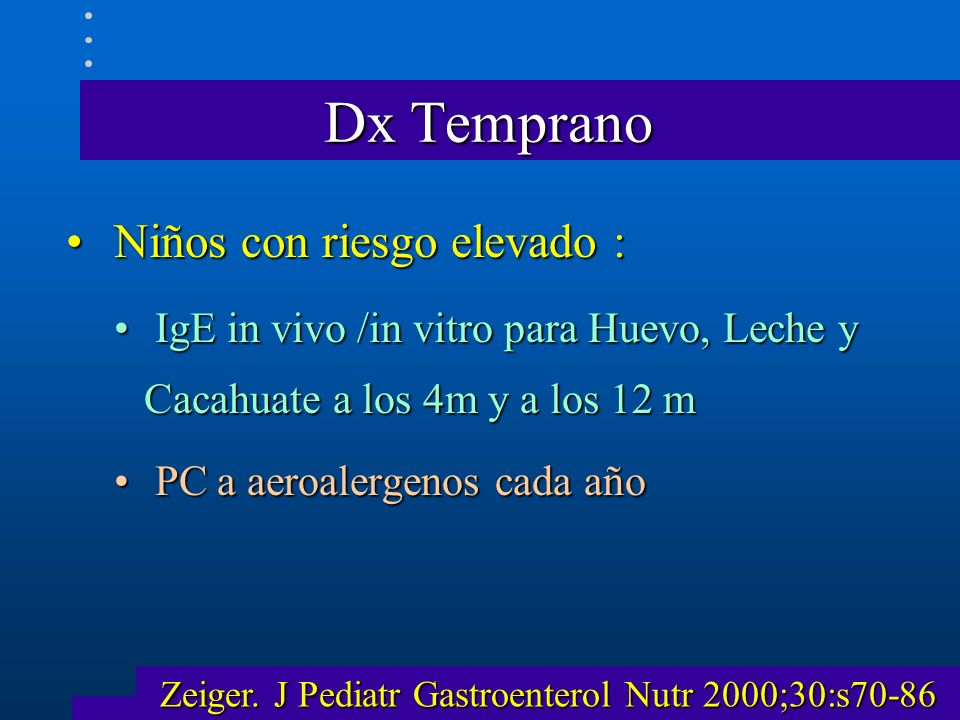 Zeiger. J Pediatr Gastroenterol Nutr 2000;30:s70-86