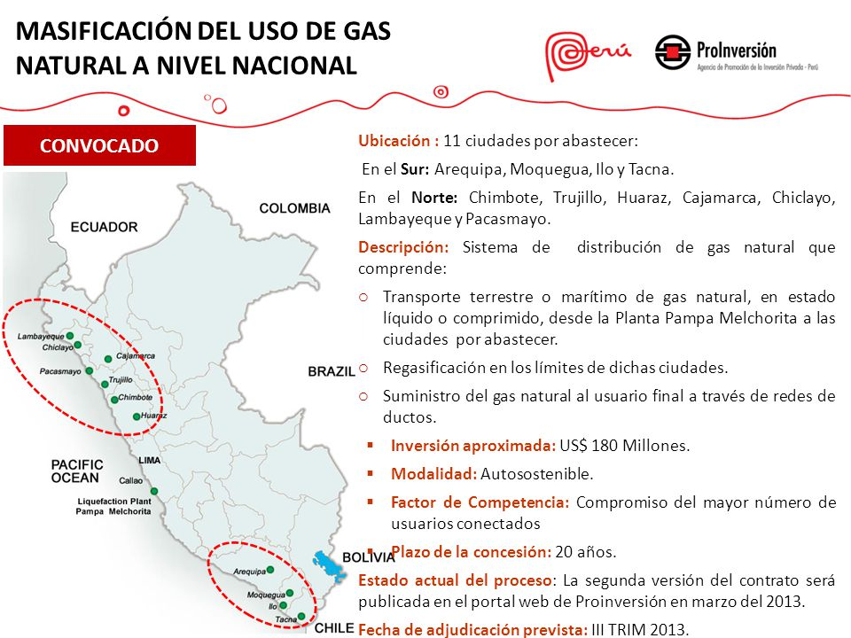 Proyectos en cartera javier illescas director ejecutivo for Portal del instalador de gas natural