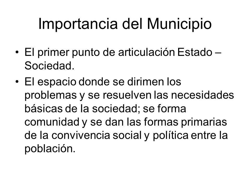 Importancia del Municipio