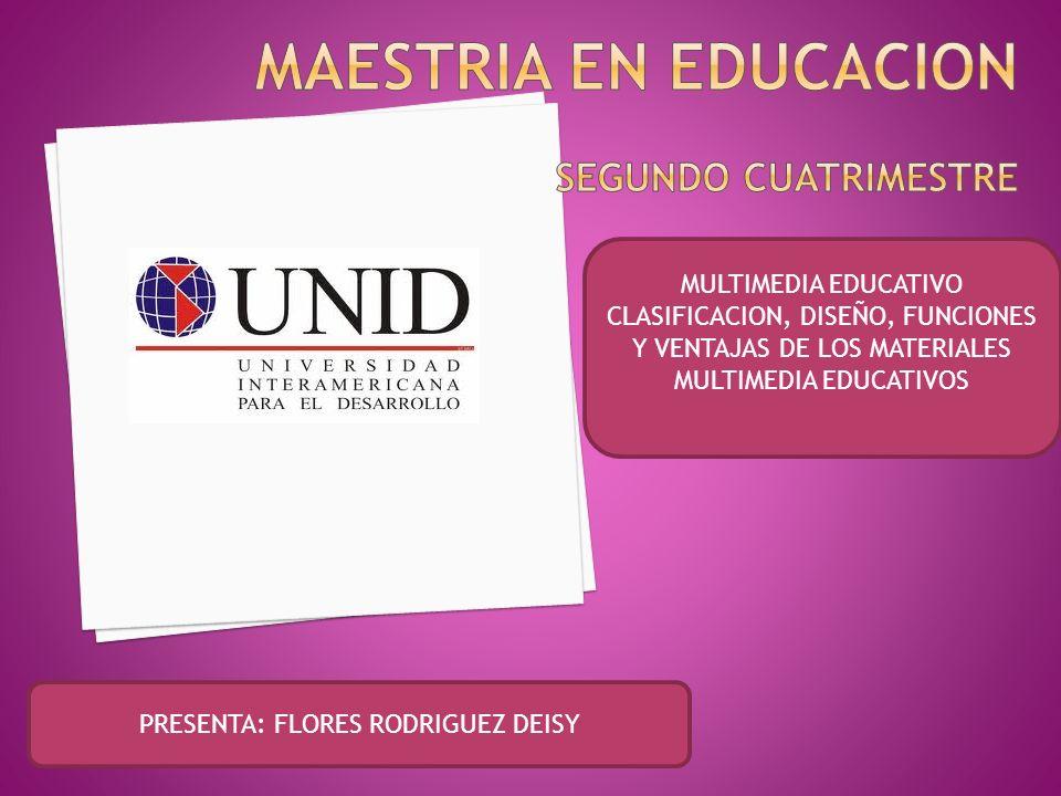 MAESTRIA EN EDUCACION SEGUNDO CUATRIMESTRE