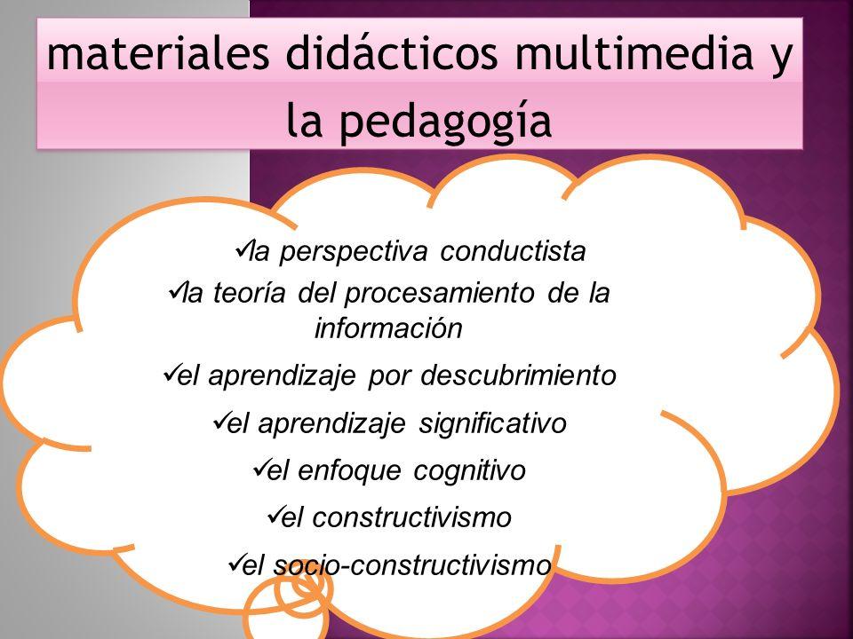 materiales didácticos multimedia y la pedagogía