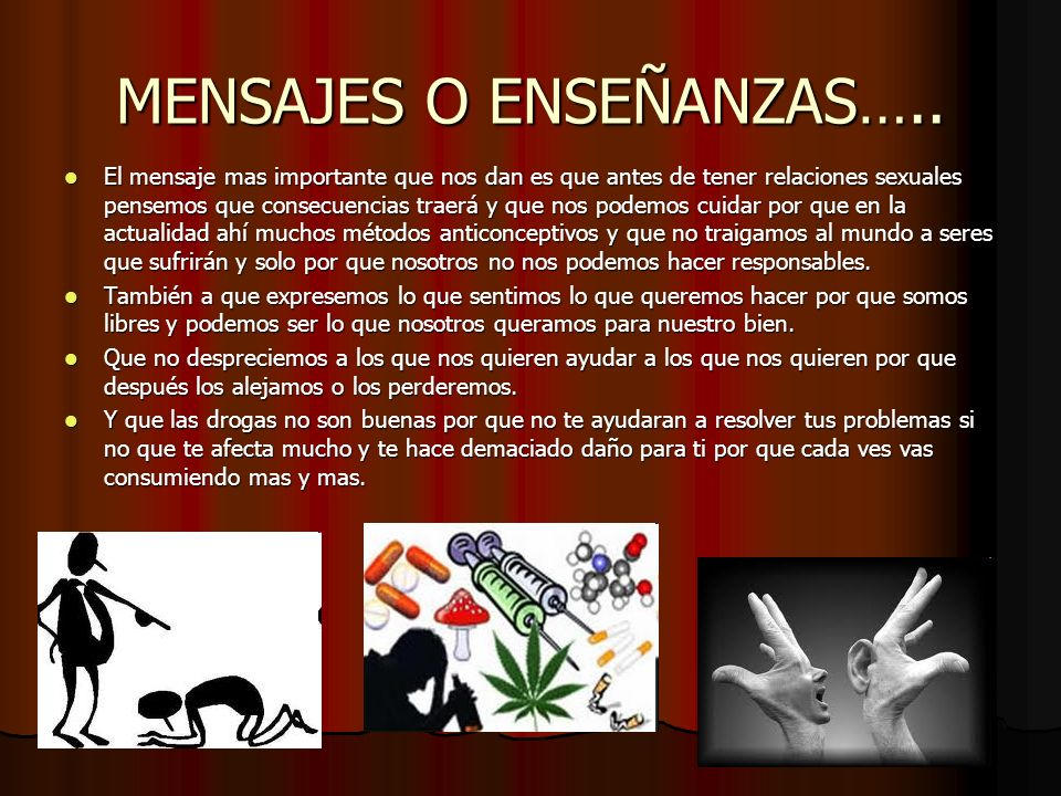 MENSAJES O ENSEÑANZAS…..