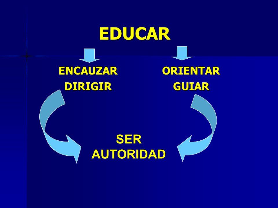 EDUCAR ENCAUZAR DIRIGIR ORIENTAR GUIAR SER AUTORIDAD