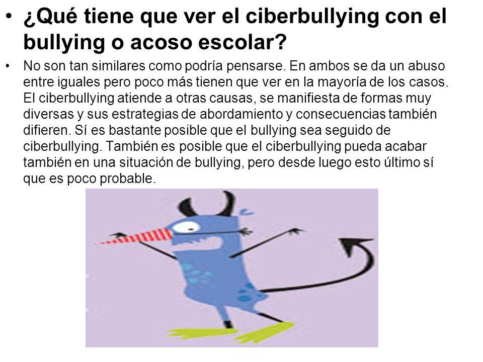 ¿Qué tiene que ver el ciberbullying con el bullying o acoso escolar