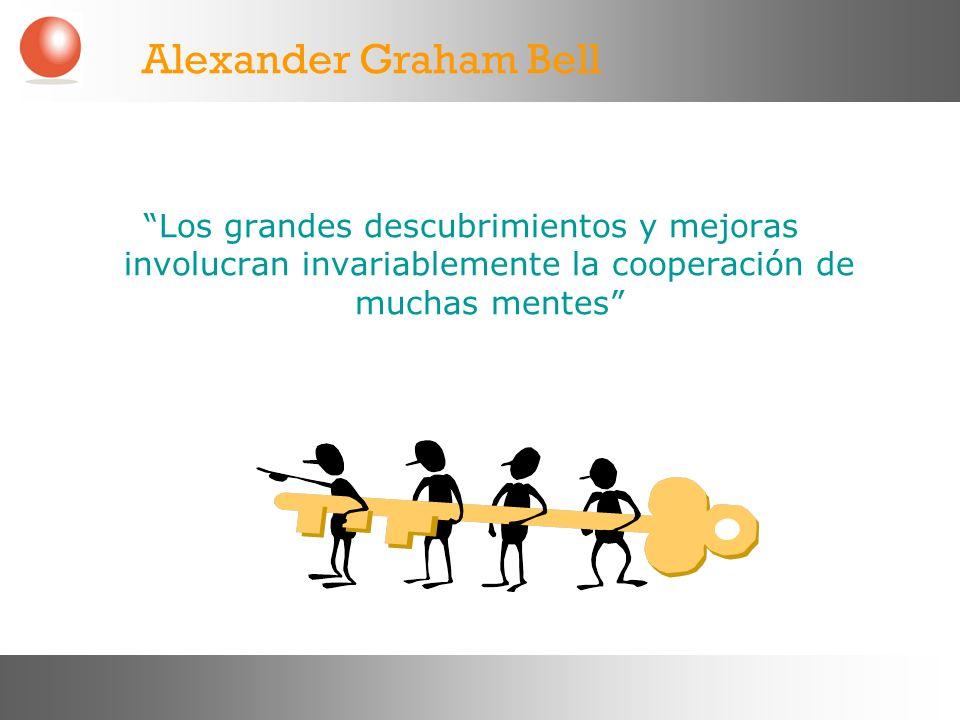 Alexander Graham Bell Los grandes descubrimientos y mejoras involucran invariablemente la cooperación de muchas mentes