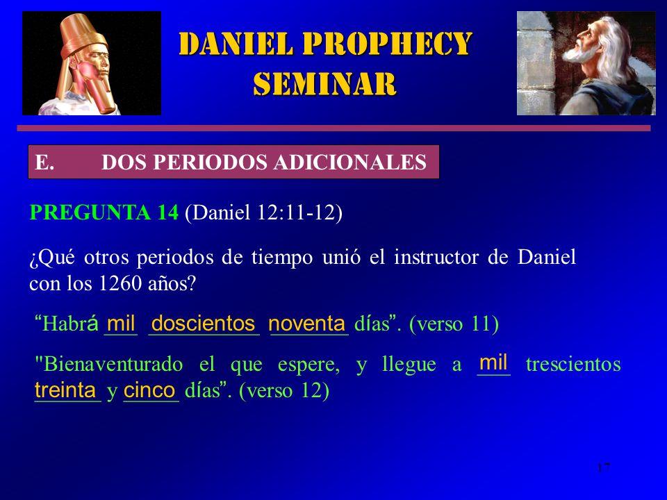 Daniel Prophecy Seminar