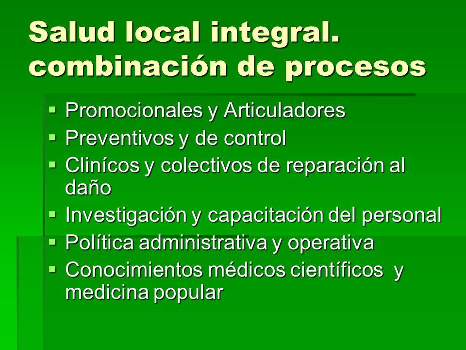 Salud local integral. combinación de procesos